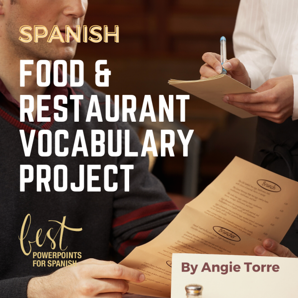Spanish Restaurant and Food Vocabulary Project Man ordering in a restaurant