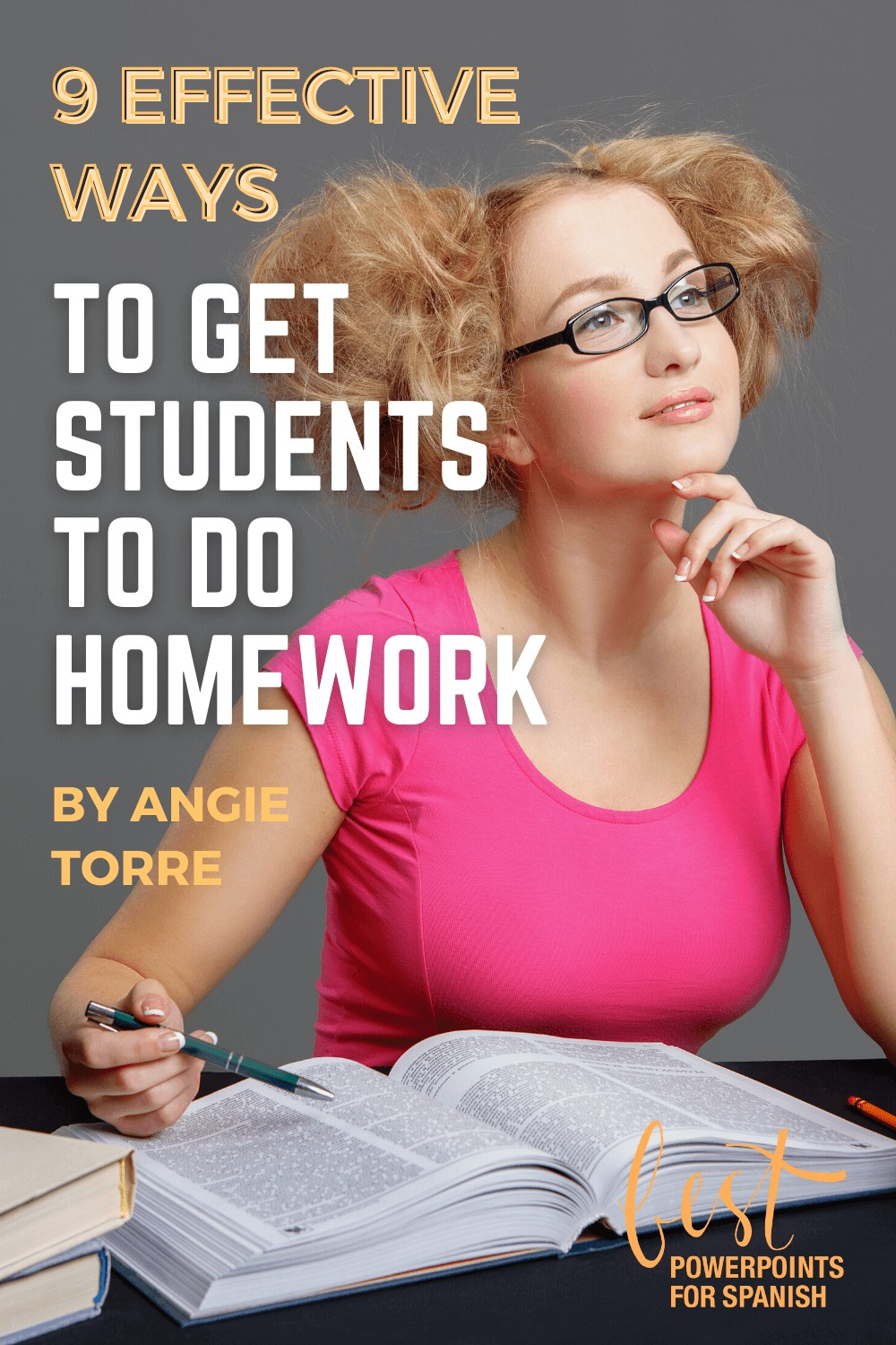 9 Effective Ways to Get Your Students to Do Homework: Student with a pen and book looking up